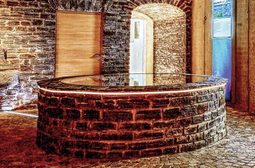 Schaubrunnen in der Brauerei der Sinne von Murauer Bier